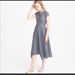 J.Crew | Gingham Midi Dress - Size 4P